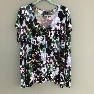 Cynthia Rowley 3X plus short sleeve blouse